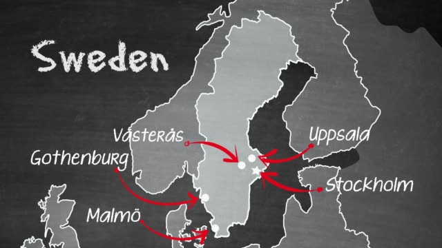 swedish map - northern europe stock videos & royalty-free footage