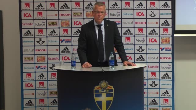swedish national football team head coach janne andersson announces a 23member squad for sweden's 2018 fifa world cup qualifying round match against... - world cup qualifying round stock videos and b-roll footage