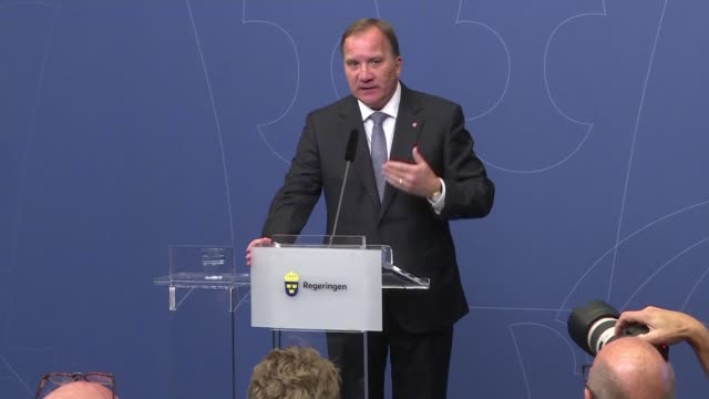 Swedish Prime Minister Stefan Lofven rejects a center right alliance offer for the social democrats to be a junior party in their government