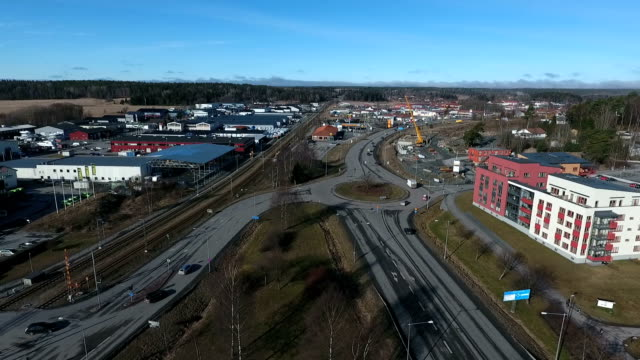 swedish rural scenics panning aerial video - quadcopter stock videos & royalty-free footage