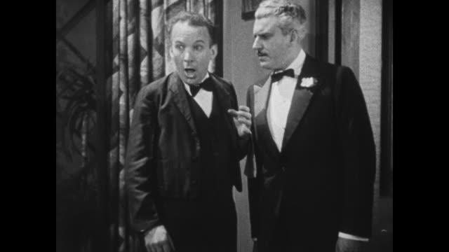 1931 Swedish waiter (El Brendel) questions guests on alibi for police inspector (Eddie Kane)