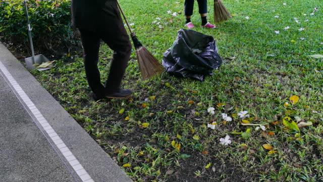 sweep garbage