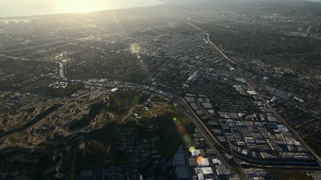 sweeping aerial shot of baldwin hills in culver city, california. - culver city stock videos & royalty-free footage