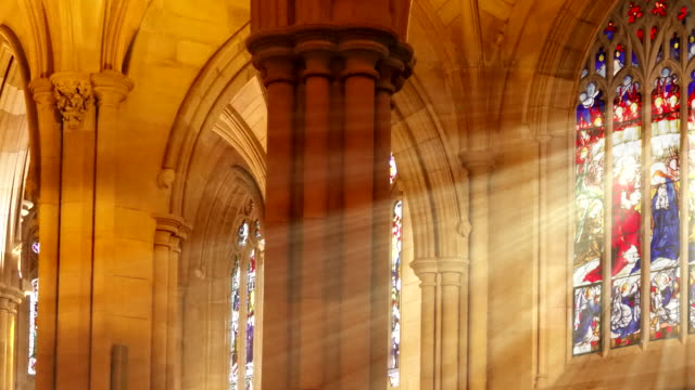 sweeping stained glass light rays - digital enhancement stock videos & royalty-free footage