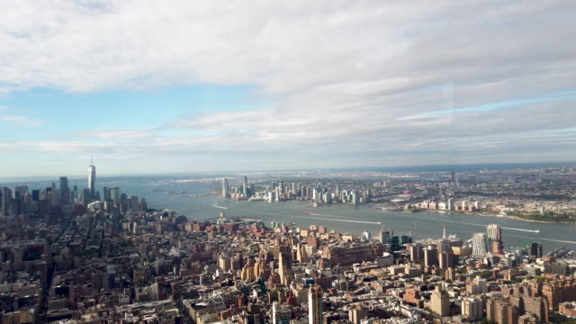 sweeping view of manhattan from inside the newly renovated 102nd floor observatory of the empire state building on october 10, 2019 in new york city.... - empire state building bildbanksvideor och videomaterial från bakom kulisserna