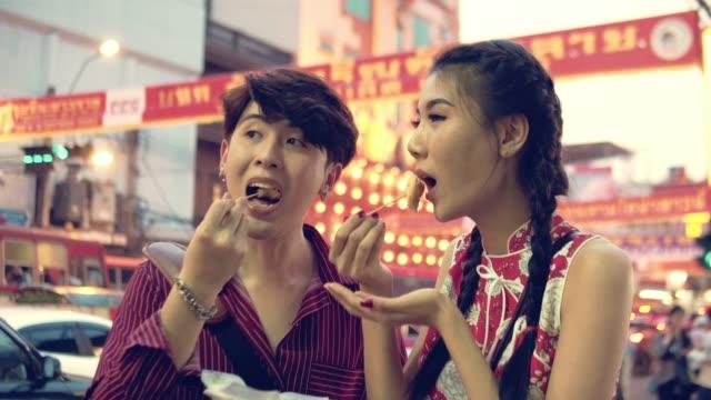 sweet dessert roti in thai street food - flour stock videos & royalty-free footage