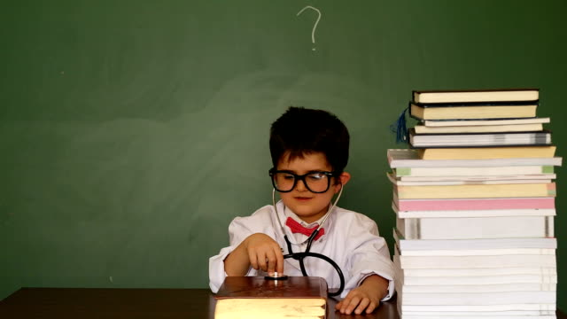 sweet little professor - back to school stock videos and b-roll footage