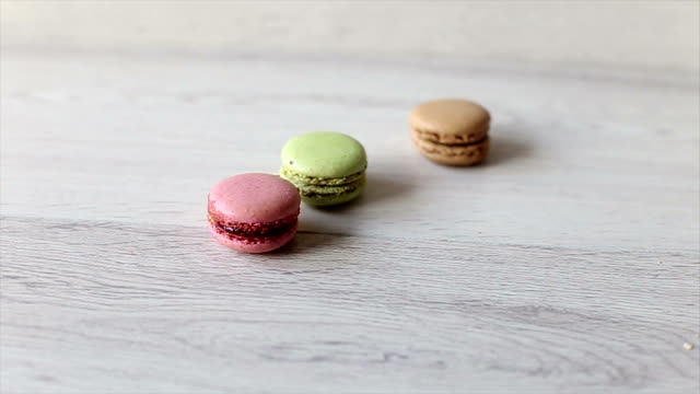 sweet macarons - macaroon stock videos and b-roll footage