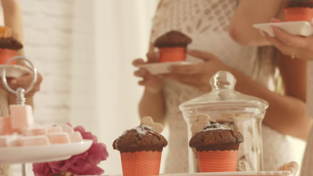 sweet party food - muffin stock videos and b-roll footage