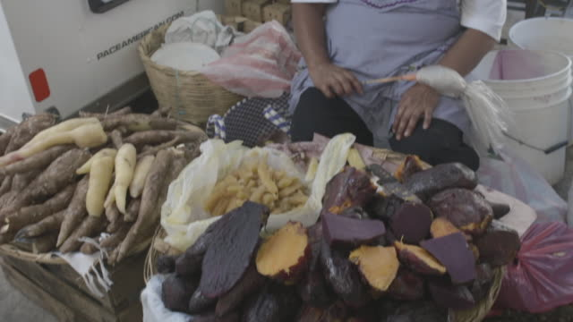 Sweet potato in a street market