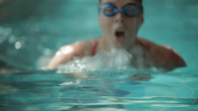 HA Swimmer practicing breast stroke / Vancouver, British Columbia, Canada