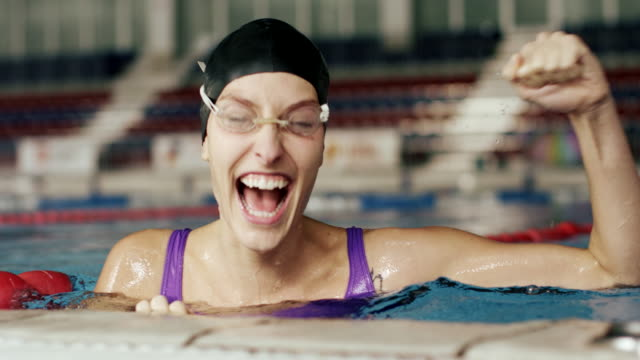 swimmer - winning stock videos & royalty-free footage