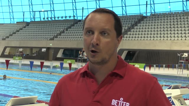 swimmers former olympians and amateur athletes react to their first sociallydistanced gym experience in over three months at the london aquatics... - leisure facilities stock videos & royalty-free footage
