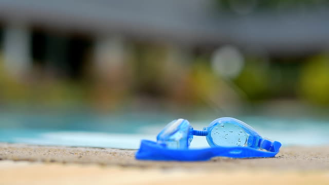 swimming goggles - swimming goggles stock videos & royalty-free footage
