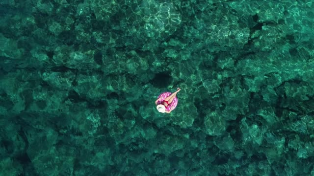 swimming in clear turquoise sea - idyllic stock videos & royalty-free footage