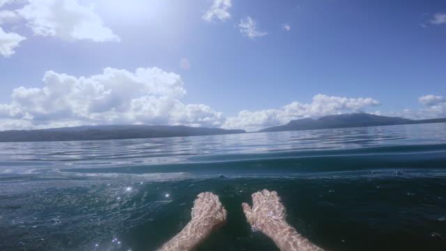 POV Swimming in Lake