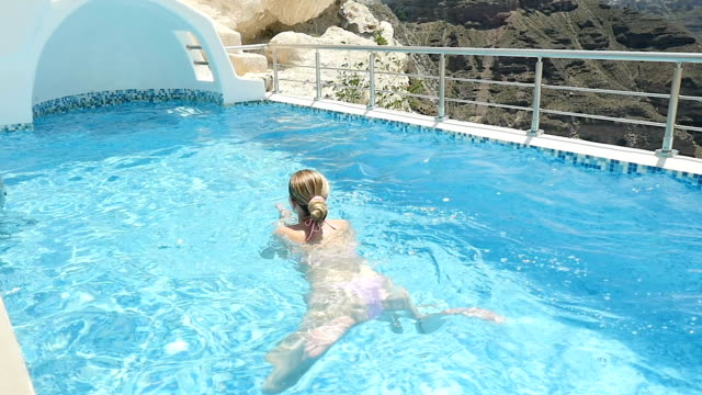 Swimming in private pool