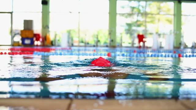 Swimming in swimming pool