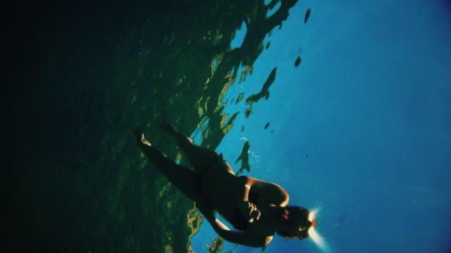 pov swimming in the mediterranean sea - gopro stock videos & royalty-free footage