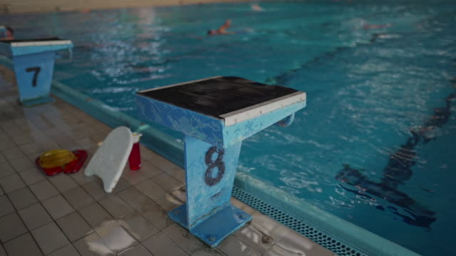 swimming is the healthiest sport out there - diving platform stock videos & royalty-free footage