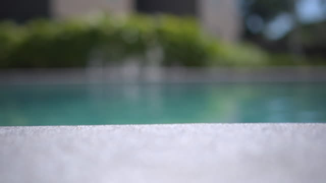 swimming pool bar with copy space - poolside stock videos & royalty-free footage