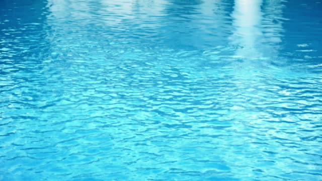swimming pool caustics with reflections - poolside stock videos & royalty-free footage