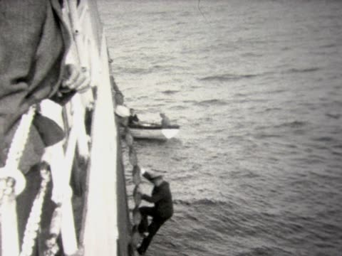 1930 swimming pool on ship - freibad stock-videos und b-roll-filmmaterial