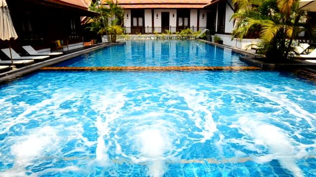 swimming pool - holiday villa stock videos & royalty-free footage