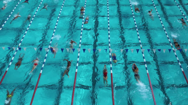 swimming pool - length stock videos & royalty-free footage