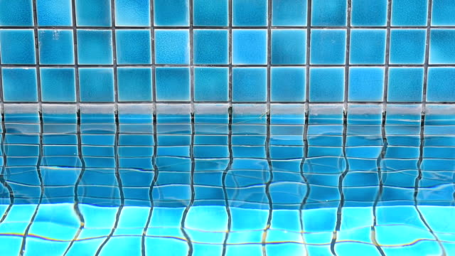 swimming pool with ripple water - caustic light effect stock videos & royalty-free footage