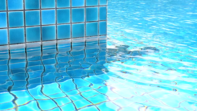 swimming pool with ripple water