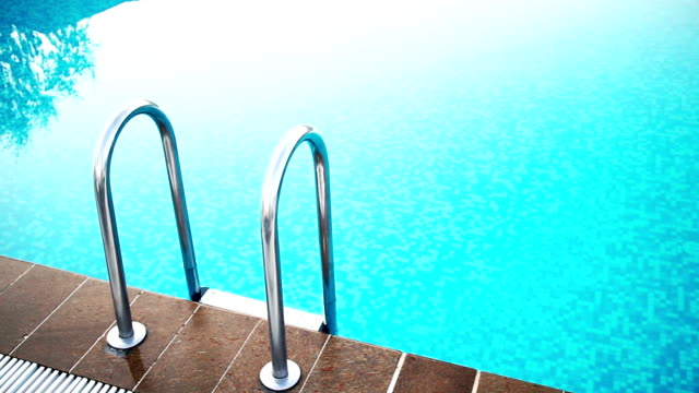 swimming pool with steps - standing water stock videos & royalty-free footage