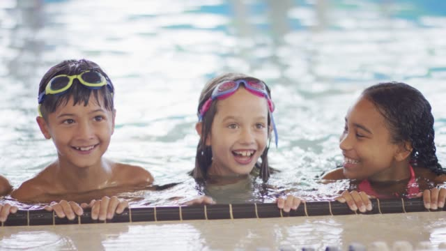 swimming practice - children stock videos & royalty-free footage