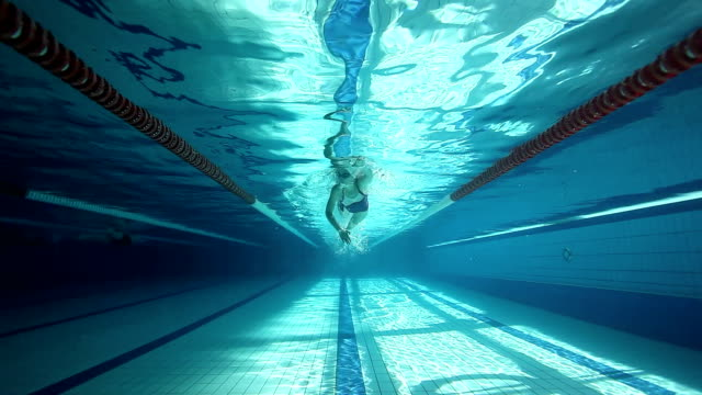 Swimming training - front crawl technique