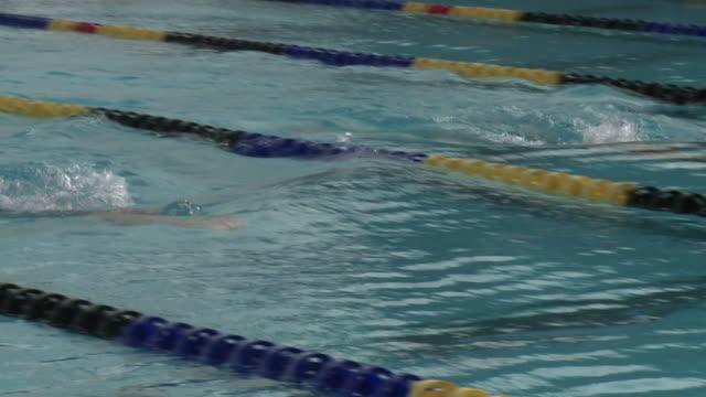 nuoto - piscina pubblica all'aperto video stock e b–roll