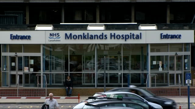 swine flu continues to spread worldwide lanarkshire ext general views monklands hospital - swine influenza virus stock videos and b-roll footage