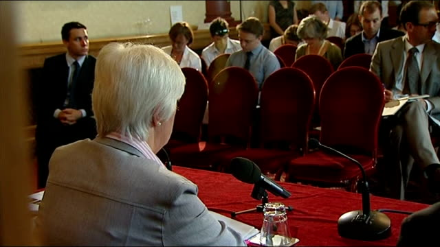results of independent review published london int general views press conference with dame deirdre hine dame deirdre hine press conference sot more... - swine influenza virus stock videos and b-roll footage