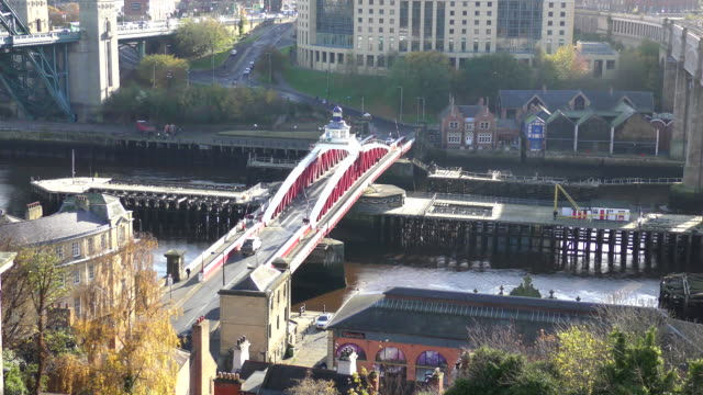 swing bridge - newcastle, england - swing bridge stock videos & royalty-free footage