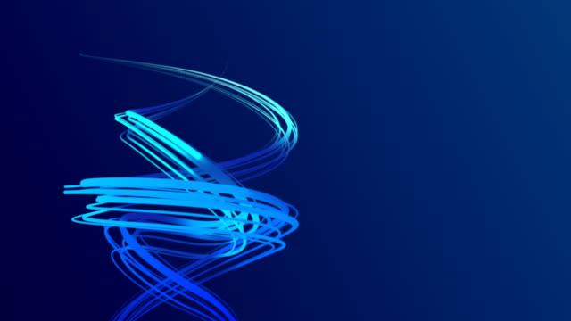 vidéos et rushes de lignes de tourbillon avec joli fond - hélice forme géométrique