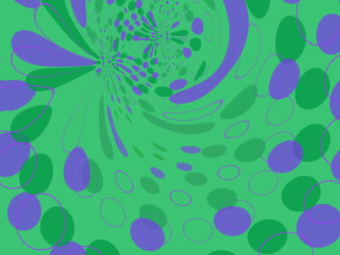 stockvideo's en b-roll-footage met swirling green and purple polka dots - stippen