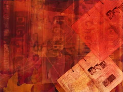vidéos et rushes de ms cgi multiple exposure swirling montage of textbooks  - procédé croisé