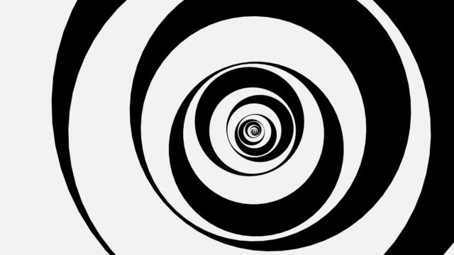 swirling psychedelic circles - greyscale stock videos & royalty-free footage