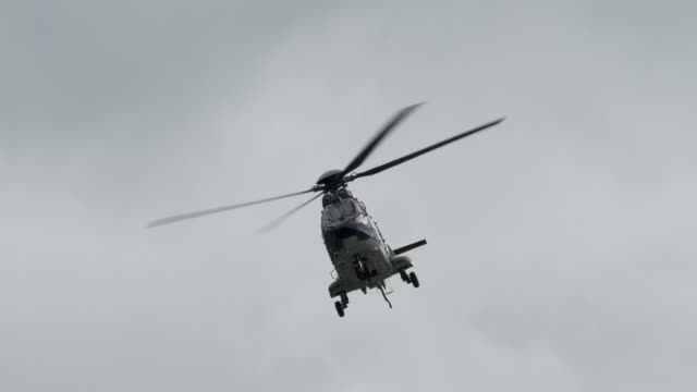 swiss army helicopter flying in the air - army stock videos & royalty-free footage