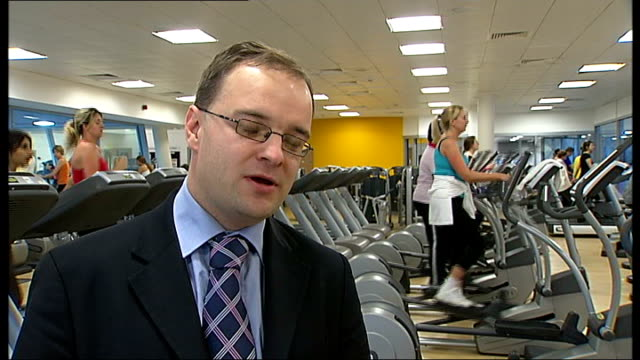 Swiss Cottage Leisure Centre voted best by 'Time Out' People using gym equipment Gary Dark interview SOT saying it is wonderful news