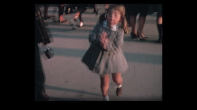 1964 swiss expo girl jumps for joy - exhibition stock videos & royalty-free footage