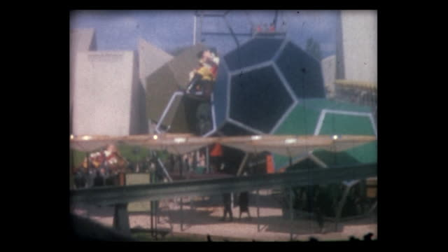 1964 swiss expo overview from telecabine - world's fair stock videos & royalty-free footage