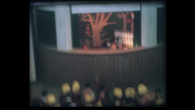 1964 swiss expo puppet show in theatre - adult imitation stock videos & royalty-free footage