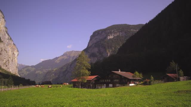 Swiss farm in Lauterbrunnen Valley