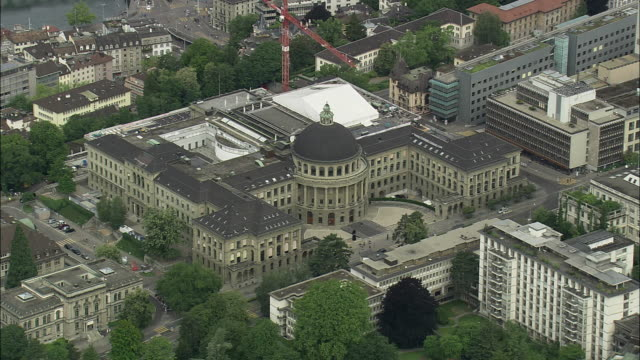 aerial swiss federal institute of technology, zurich, switzerland - technical college stock videos & royalty-free footage