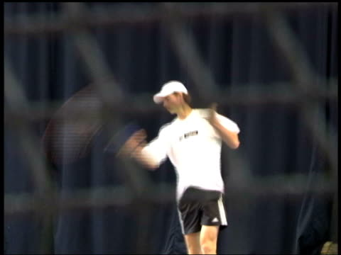 Swiss Indoor Open DATE British tennis player Andrew Murray practising